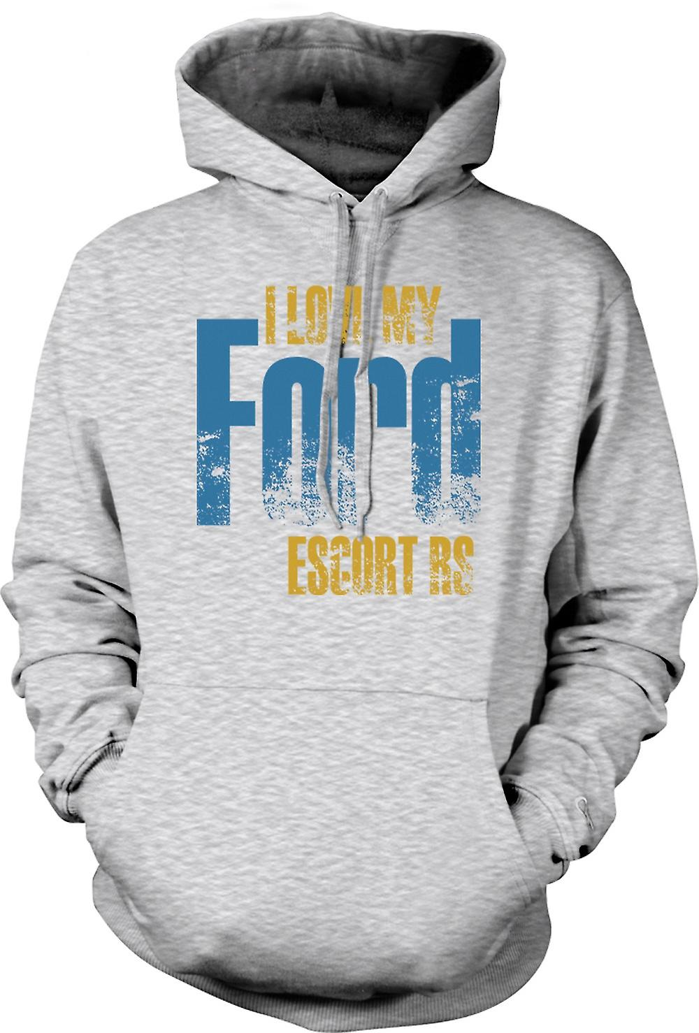 Mens Hoodie - I Love My Ford Escort RS - passionné de voiture