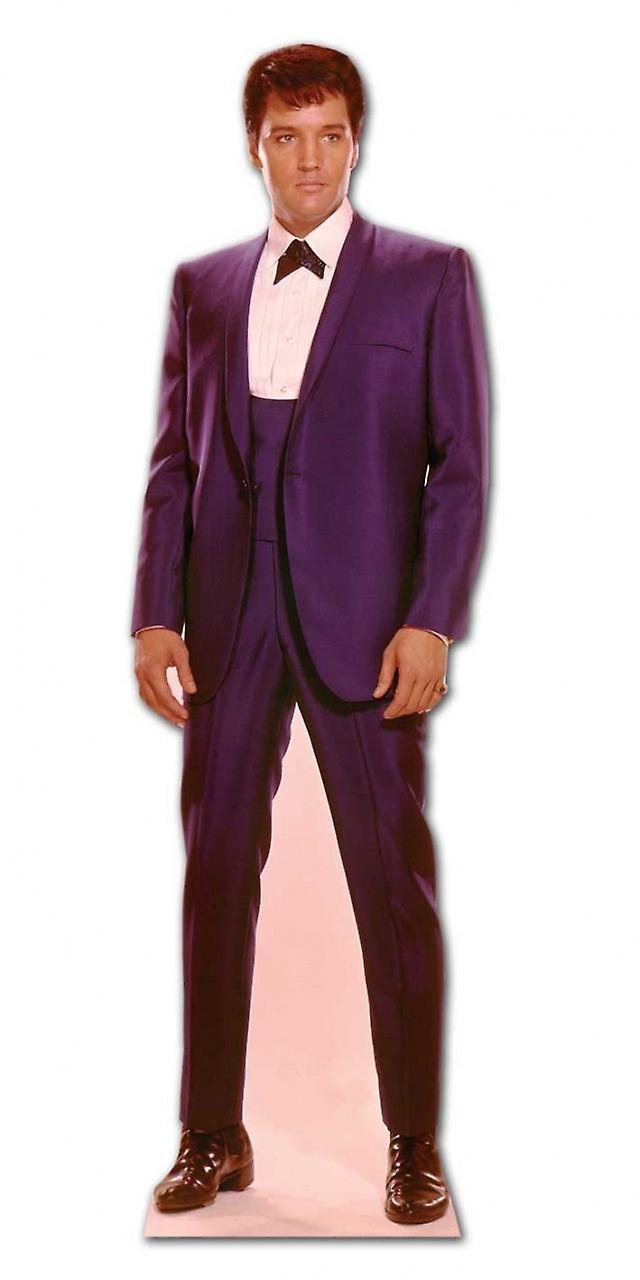 Elvis 1960s Wearing Blue Suit - Lifesize Cardboard Cutout / Standee