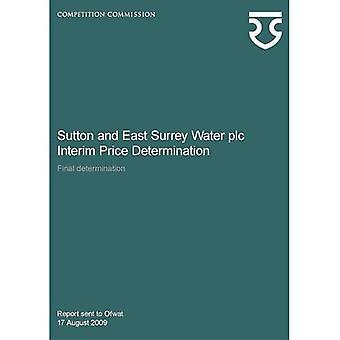 Sutton and East Surrey Water plc interim price determination, final determination