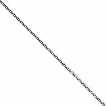 18ct białe złoto 1mm szeroki jasny wyciąć krawężnika wisząca łańcuch 16 cali nadaje się tylko dla dzieci