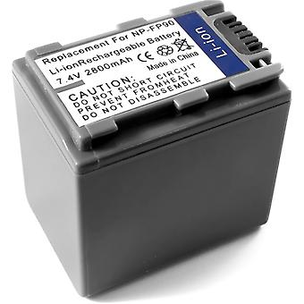 Sony NP-FP90 DCR-वास्ते एसआर 40 DCR-DVD92 DCR-HC20 DCR-HC36 DCR-HC40E dcr-HC96E dcr-SR60 DCR-SR80 के लिए बैटरी
