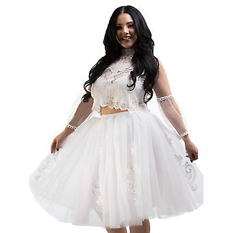 Bride-To-Be Bridal Shower Bachelorette Party Gift Liisa Tulle Tutu Skirt BTS102 White O/S