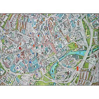 Stadtbilder Stadtplan von Derby 400 Stück Puzzle 470 x 320 mm (Hpy)