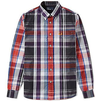 Audaces manga larga camisa Fred Perry hombres - M8265-100