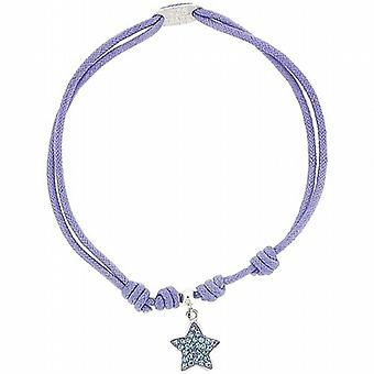 TOC-Sterling Silber lila Sommer Armband Armband mit Kristallstern Fisch Charm