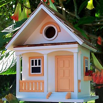 Peaches and Cream Cottage Birdhouse