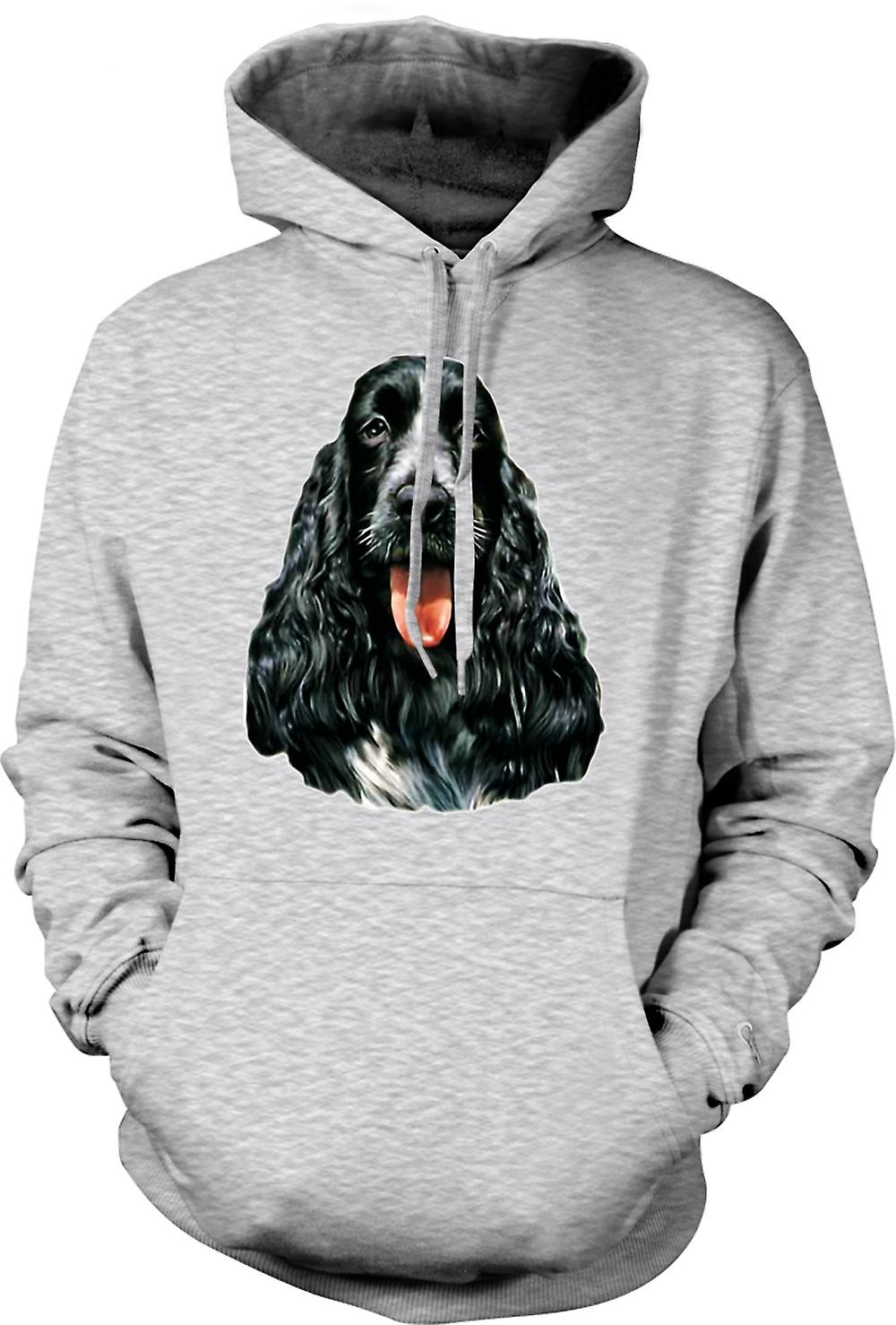 Mens hettegenser - Cocker Spaniel - Pet - hund