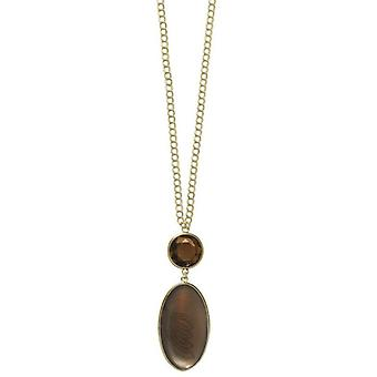 Pilgrim GoDiva ladies´ necklace  brown/gold (549511)