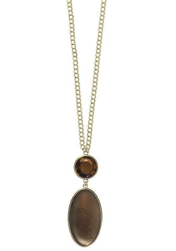 Le pèlerin GoDiva Damenhalskette, brun/or (549511)