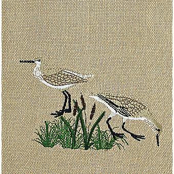 Seagulls Coastal Birds Embroidered Kitchen Towel 28 Inch