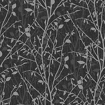 Arthouse Bosco Floral blad patroon behang metallic glitter motief vinyl 291504