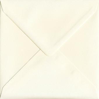Magnolia Cream Gummed 130mm Square Coloured Cream Envelopes. 110gsm GF Smith Accent Paper. 130mm x 130mm. Banker Style Envelope.