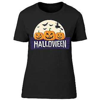 Halloween zucche strega tee donne's -immagine di Shutterstock
