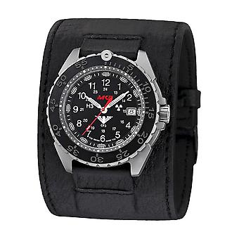 KHS - Wristwatch - Men - Enforcer Titanium CR with Leather Strap Kraftband- KHS. ENFTCR. Lk