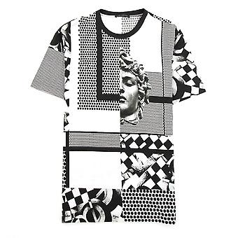 Versace Medusa Pattern T-shirt Black/White