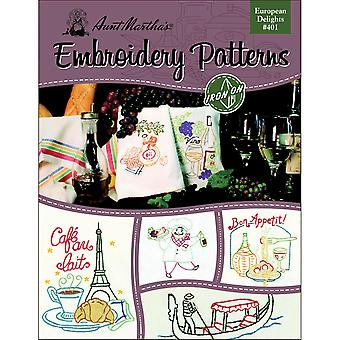 Aunt Martha's Iron On Transfer Books European Delights Tpb 401