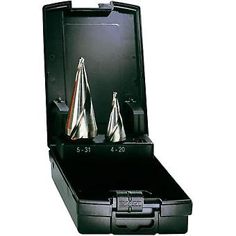 Quick-helix drill bit set 2-piece 5 - 31 mm, 5 - 20 mm HSS Exact
