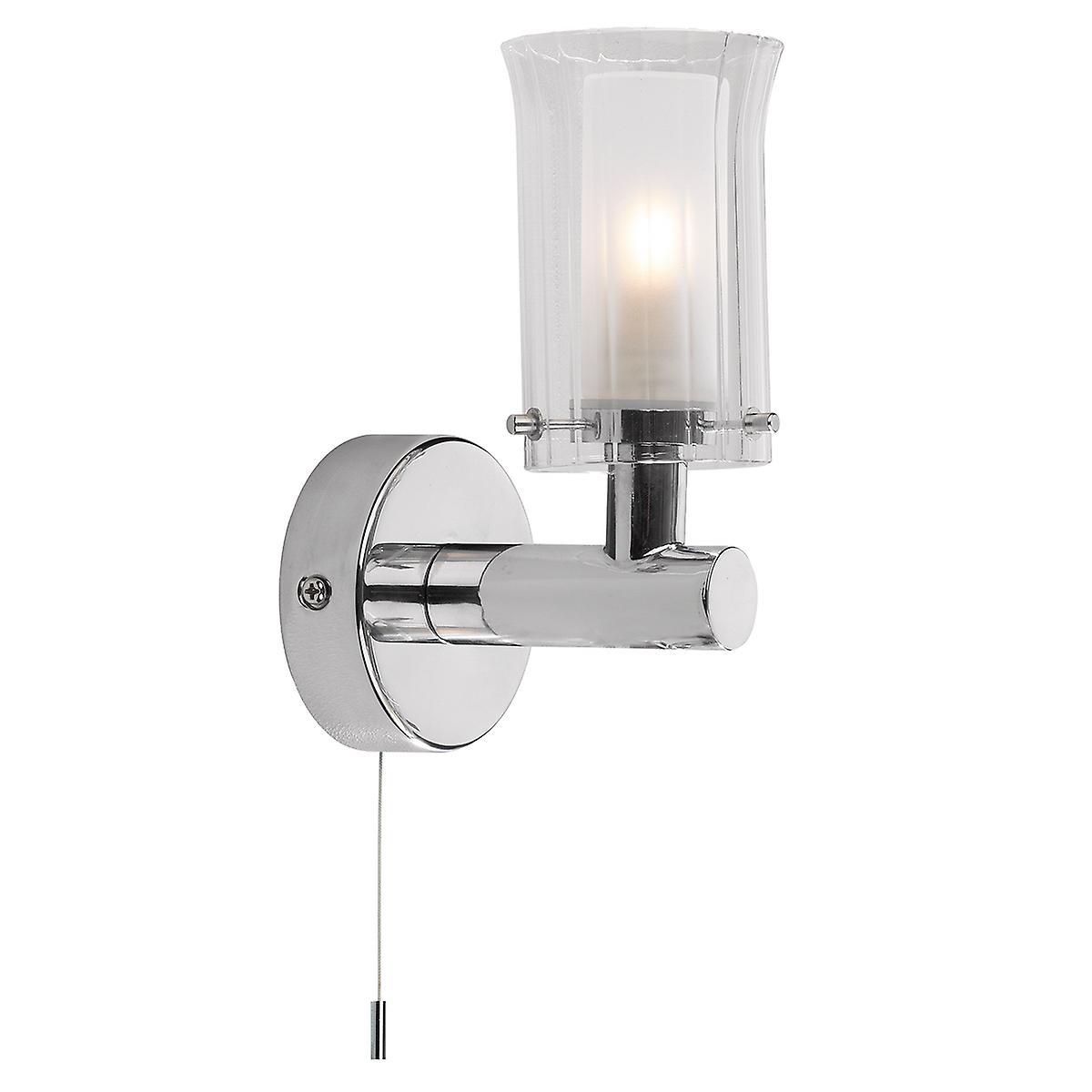 Dar ELB0750 Elba Modern Chrome Switched Bathroom Wall Light