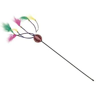 Arquivet Stick With Feathers And Balls (50Cm) (Cats , Toys , Teaser Wands)
