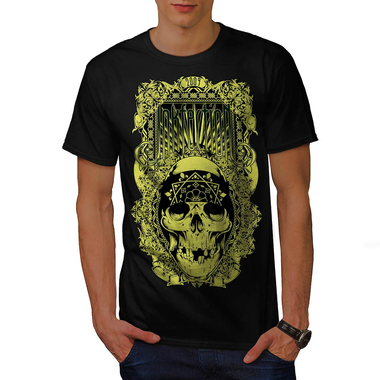 Inkfection Death Skull Men Black T-shirt | Wellcoda