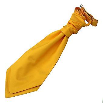 Des jungen Sonnenblumen Gold solide Check Hochzeit Krawatte