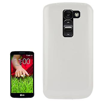 Protective case for mobile LG Optimus G2 / D802 white / transparent