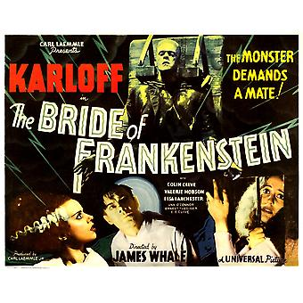The Bride Of Frankenstein Top Boris Karloff Bottom From Left Elsa Lanchester Colin Clive Valerie Hobson 1935 Movie Poster Masterprint