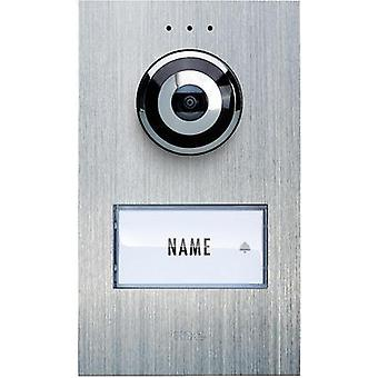 Video door intercom Corded Outdoor panel m-e modern-electronics VDV 610 compact Detached Stainless steel