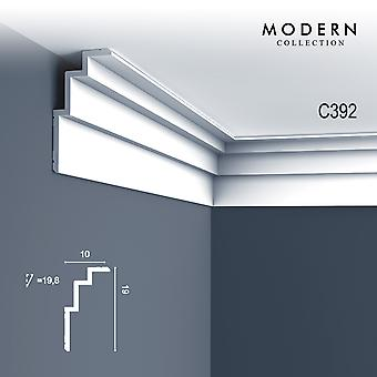 Corner bar ORAC decor C392 MODERN STEPS white modern design decoration moulding trim strip 2 m