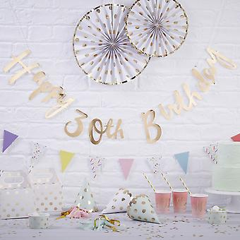 Gold Happy 30th Birthday Bunting - Pick & Mix