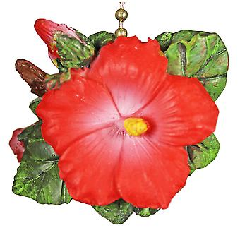 Tiki Tropical Hibiscus Flower Decor Ceiling Fan Light Pull