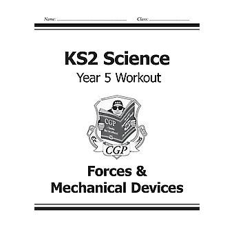 KS2 Science Year Five Workout: Forces & Mechanical Devices (for the New Curriculum) (Paperback) by Cgp Books