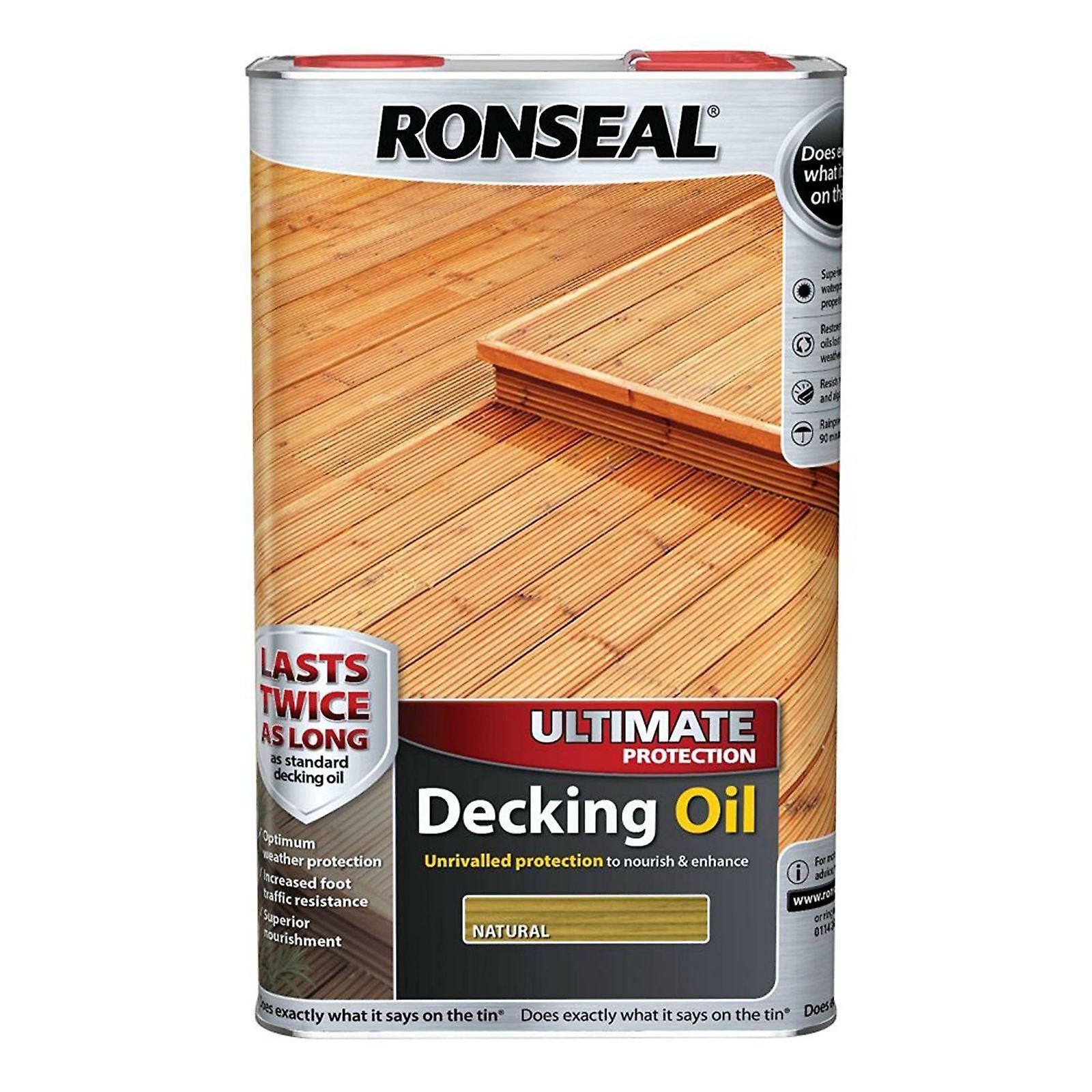 Ronseal Ultimate protezione Decking olio da 5 litri - naturale
