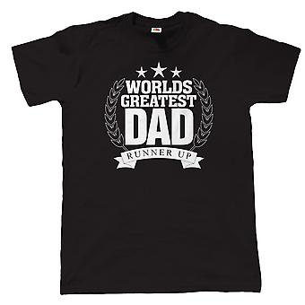 Worlds Greatest Dad, Runner Up, Mens Funny T Shirt