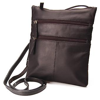 Visconti Ladies Small Real Leather Shoulder Bag Genuine Womens Cross Body 18606