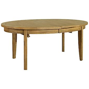 Classic Loire Oak Medium Sized Oval Extending Table