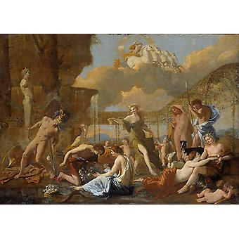 Nicolas Poussin - The Empire of Flora (1631) Poster Print Giclee