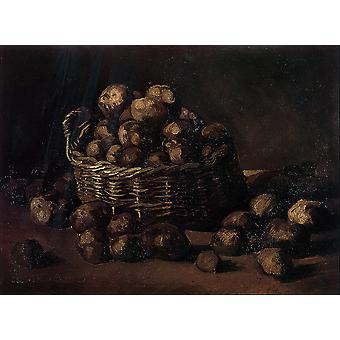 Vincent Van Gogh - Basket of Potatoes, 1885 Poster Print Giclee