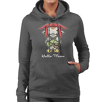 Hello Meow Space Dandy Kitty Women's Hooded Sweatshirt