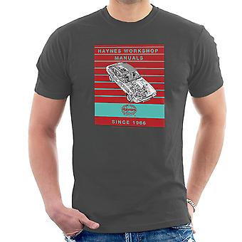Haynes Workshop Manual 0375 Ford Capri II V6 Stripe T-Shirt voor mannen