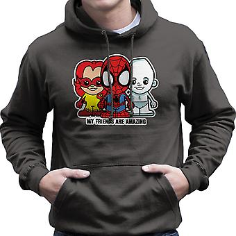 Lil fantastiska vänner Spiderman Iceman Firestar män är Hooded Sweatshirt