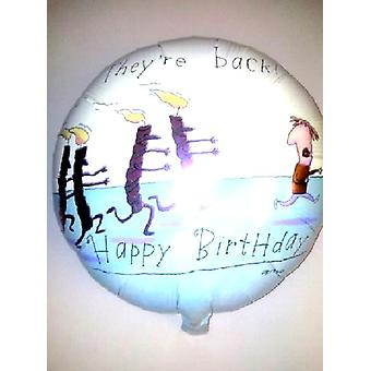 Foil Balloon THEY'RE BACK Birthday Candles