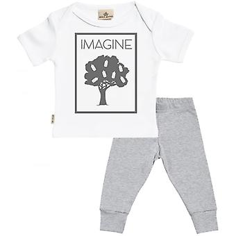 Spoilt Rotten Milk Tree Baby T-Shirt & Baby Jersey Trousers Outfit Set