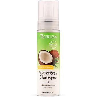 TropiClean Waterless Champú Hipoalergénico 218 ml