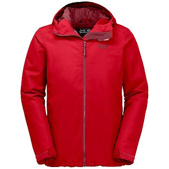 Jack Wolfskin Mens Chilly Morning Jacket Ruby Red (Small)