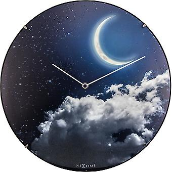 Nextime Wall Clock 35,0 Cm Ø Dome Glass New Moon Dome (Decoration , Clocks)