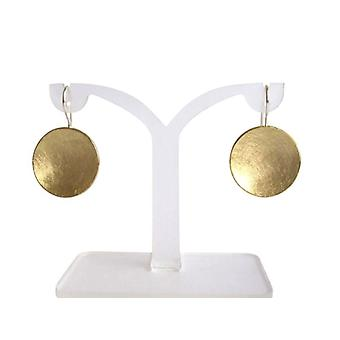Shell earrings gold plated earrings shell round earrings sterling silver gold plated