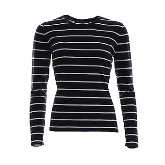 GANT Cotton Silk Wool Stripe Ladies Crew
