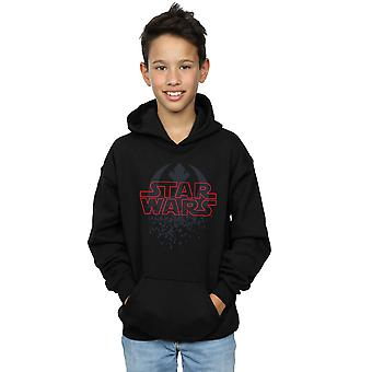 Star Wars Boys The Last Jedi Shattered Emblem Hoodie