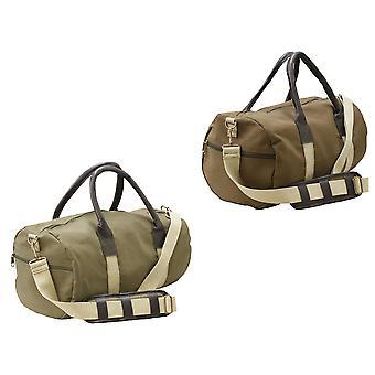 Canvas Duffle Leatherette Carry Shoulder Gym Bag